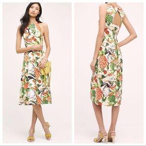 Anthropologie Eva Franco Pineapple Halter Dress 6